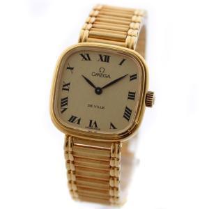 37dc611542 【送料無料】OMEGA オメガ デビル 金無垢 レディース 腕時計 手巻き ゴールド K18イエロー