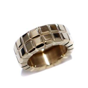 新品仕上げ済み ショパール アイスキューブリング 2ライン リング・指輪 ユニセックス K18イエローゴールド ジュエリー 7号 ゴールド 中古 送料無料 brandeco