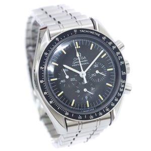 オメガ スピードマスタープロフェッショナル  腕時計 メンズ 手巻き ブラック文字盤 シルバー 35...
