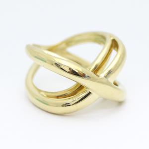 新品仕上げ済み ティファニー インフィニティ リング・指輪 レディース K18イエローゴールド ジュエリー 13号 ゴールド 中古 送料無料 brandeco