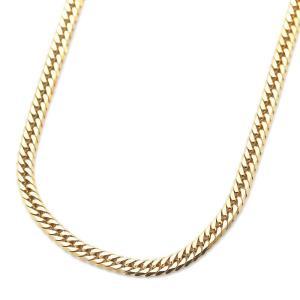 ノーブランド 喜平 6面カット ダブル ネックレス メンズ K18ゴールド ジュエリー イエローゴールド 中古 送料無料|brandeco