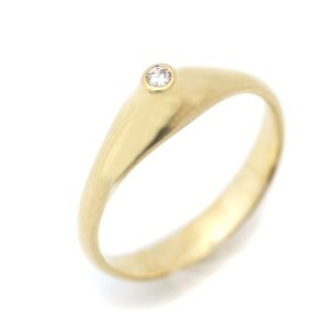 ティファニー 1Pダイヤ リング・指輪 レディース K18イエローゴールド ダイヤモンド ジュエリー 13.5号 イエローゴールド 中古 送料無料 brandeco