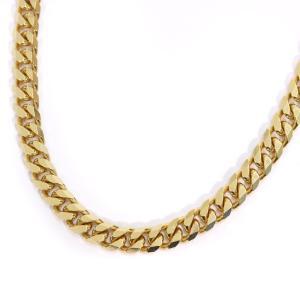 ノーブランド 喜平 8面カット ネックレス メンズ K18イエローゴールド ジュエリー ゴールド 中古 送料無料 brandeco