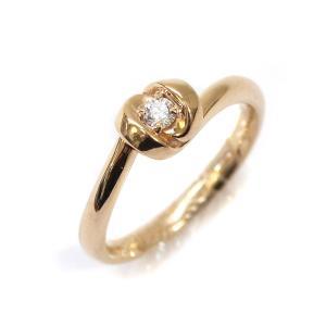 ヨンドシー リング・指輪 レディース K18ゴールド ダイヤモンド ジュエリー 7号 イエローゴールド 中古 送料無料|brandeco