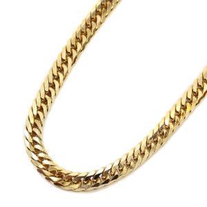 ノーブランド 喜平 6面カット ダブル ネックレス メンズ K18ゴールド ジュエリー イエローゴールド 中古 送料無料 brandeco
