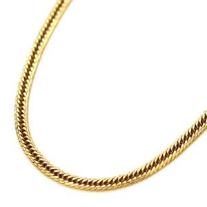 ノーブランド 喜平 12面 トリプル ネックレス メンズ K18イエローゴールド ジュエリー YG 中古 送料無料 brandeco