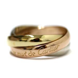 カルティエ トリニティ  3連リング リング・指輪 レディース K18ゴールド ジュエリー 9号 ゴールド 中古 送料無料 brandeco