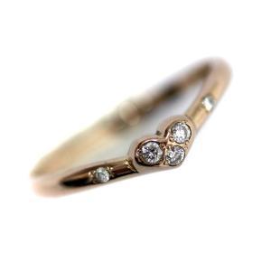 新品仕上げ済み スタージュエリー ハートモチーフ リング・指輪 レディース K18イエローゴールド ダイヤモンド ジュエリー 10号 ゴールド 中古 送料無料 brandeco