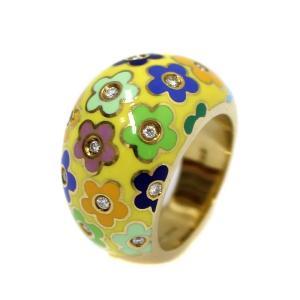 新品仕上げ済み ポンテヴェキオ リング・指輪 レディース K18イエローゴールド ダイヤモンド ジュエリー 8.5号 イエロー 中古 送料無料|brandeco