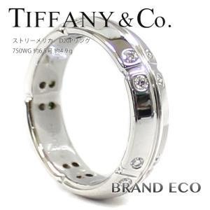 ティファニー ストリーメリカ ダイヤリング ホワイトゴールド 指輪 750WG 約6.5号 約4.9g ジュエリー 中古