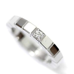 新品仕上げ済み カルティエ 1P  ラニエール リング・指輪 ユニセックス K18ホワイトゴールド ダイヤモンド ジュエリー 7号 WG ホワイト 中古 送料無料|brandeco
