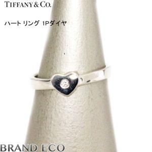 ティファニー ハート リング 1Pダイヤ シルバー SV925 指輪 約6.5号 新品仕上済み 中古