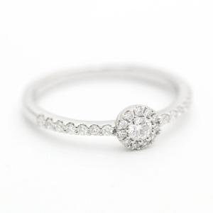新品仕上げ済み ポンテヴェキオ リング・指輪 レディース ダイヤモンド Ptプラチナ ジュエリー 9号 シルバー 中古 送料無料|brandeco