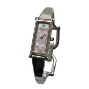 グッチ バングルウォッチ 腕時計 レディース クオーツ ステンレススチール ピンクシェル文字盤 シルバー 1500L 中古 送料無料|brandeco