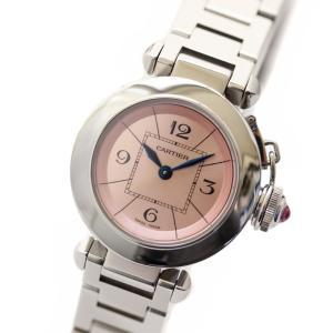 カルティエ ミスパシャ レディース腕時計 ピンク文字盤 W3...