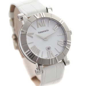 ティファニー アトラス 腕時計 レディース クオーツ ホワイト文字盤 ホワイト Z1301.11.11A20A71A 中古 送料無料|brandeco