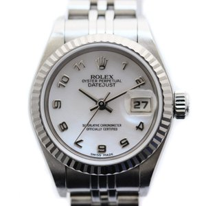 ロレックス デイトジャスト レディース腕時計 自動巻き 79174NA K番 ステンレス K18ホワイトゴールド ピンクシェルダイアル シルバー 中古|brandeco