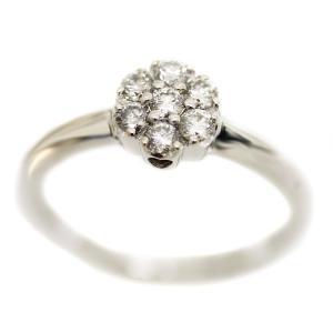 新品仕上げ済み ポンテヴェキオ フラワーモチーフ  リング・指輪 レディース ダイヤモンド K18ホワイトゴールド ジュエリー 9号 WG 中古 送料無料|brandeco