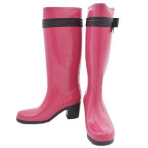ケイトスペード 長靴 レインブーツ 約23.5cm レインシューズ レディース ラバー ピンク 中古|brandeco