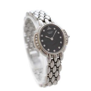 セイコー セラフィーノ クレドール 腕時計 レディース クオーツ ブラック文字盤 シルバー 2J80-5030 中古 送料無料|brandeco