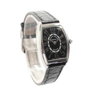 フランクミュラー トノーカーベックス レリーフ レディース腕時計 1752QZ クォーツ ステンレス シルバー ブラック文字盤 中古|brandeco