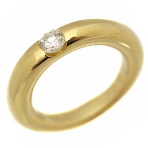 新品仕上げ済み カルティエ エリプス ダイヤモンド リング・指輪 レディース K18イエローゴールド ダイヤモンド 6.5号 ゴールド 中古 送料無料 brandeco