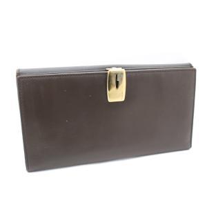 グッチ 二つ折り 長財布 レディース レザー ブラウン 035・3731 中古 brandeco