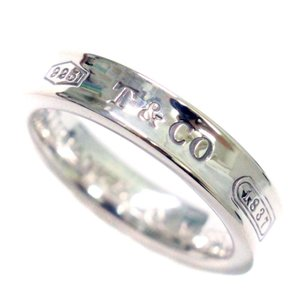 新品仕上げ済み ティファニー 1837 ナローベーシック リング・指輪 ユニセックス シルバー925 アクセサリー 6号 シルバー 中古|brandeco