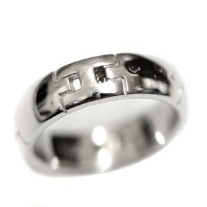 新品仕上げ済み エルメス  ヘラクレス リング・指輪 ユニセックス K18ホワイトゴールド アクセサリー 11号 WG 中古 送料無料|brandeco
