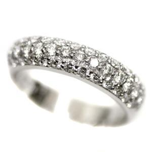 新品仕上げ済み ポンテヴェキオ パヴェ ピンキー リング・指輪 レディース K18ホワイトゴールド ダイヤモンド ジュエリー 7号 WG 中古 送料無料|brandeco
