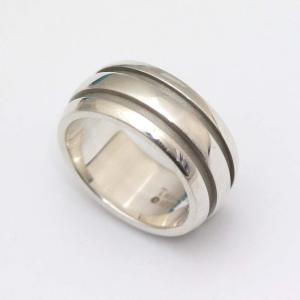 新品仕上げ済み ティファニー グルーブ リング・指輪 ユニセックス シルバー925 アクセサリー 14号 シルバー 中古 brandeco