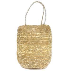 超美品 アンテプリマ ANTEPRIMA トートバッグ ラフィア × ワイヤー ゴールド 銀座店購入証明付18年6月|brandgoen