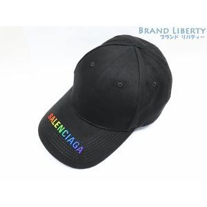 未使用 バレンシアガ ロゴ キャップ 帽子 刺繍 レインボーカラー ブラック レインボーカラー  コ...