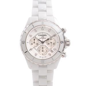シャネル 腕時計 メンズ H2009 J12 9Pダイヤ クロノグラフ 自動巻き CE セラミック ...