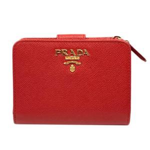 プラダ サフィアーノ トライアングル 二つ折り 財布 財布 フォーコ レザー 1ML018 ランクA|brandoff