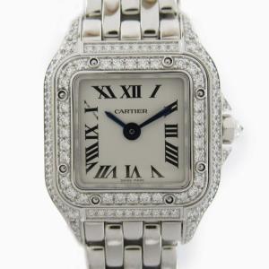 カルティエ パンテール ドゥ カルティエMINI ウォッチ 腕時計 シルバー K18WG(750)ホワイトゴールド x ダイヤモンド WJPN0019|brandoff