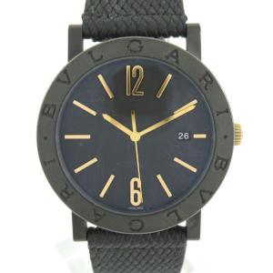 ブルガリ ソロテンポ ウォッチ 腕時計 ブラック ステンレススチール(SS) x ラバーベルト 102929 ランクA|brandoff