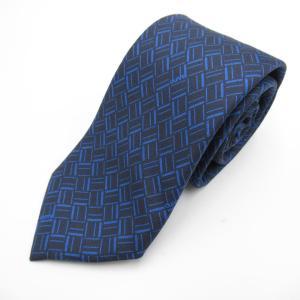 ダンヒル ネクタイ ブルー シルク  新品|brandoff