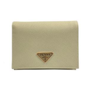 プラダ 二つ折財布 財布 アイボリー サフィアーノ  ランクA|brandoff