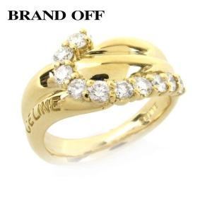 50b3da0072 セリーヌ ダイヤモンド リング 指輪 K18YG(750) イエローゴールド x ダイヤモンド(0.63ct) ランクA 11.5号