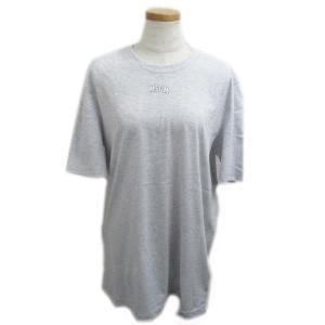 エムエスジーエム ビッグシルエット 半袖Tシャツ レディース グレーxホワイト コットン MDM17994 新品|brandoff