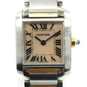 カルティエ タンクフランセーズSM 腕時計 ウォッチ シルバー ステンレススチール(SS)X K18...