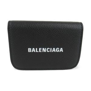 バレンシアガ CASH MINI WALLET 二つ折り財布 財布 ブラック レザー 5938131IZ4M1090 新品 brandoff
