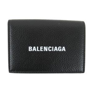 バレンシアガ CASH MINI WALLET 二つ折り財布 財布 ブラック レザー 5943121IZ431090 新品 brandoff