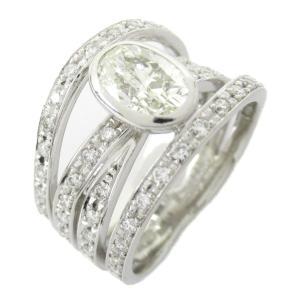 ジュエリー ダイヤモンド リング 指輪 PT900 プラチナ x ダイヤモンド1.00/0.50ct  ランクA 11.5号|brandoff