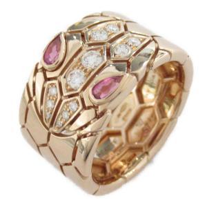 ブルガリ セルペンティバンドリング 指輪 K18PG(750) ピンクゴールド x ダイヤモンド  ランクA #57/16号|brandoff