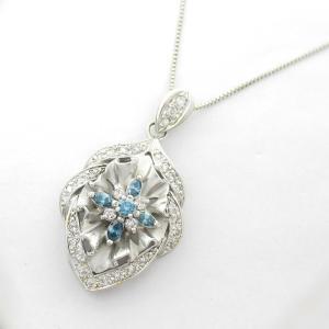 ジュエリー トリートメント ダイヤモンド ネックレス K18WG(750) ホワイトゴールド x ダイヤモンド0.43/0.34ct  ランクA|brandoff
