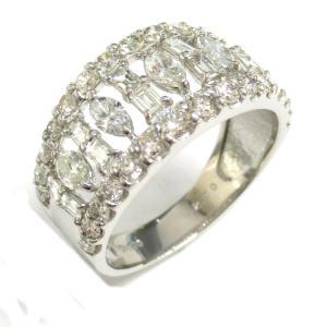 ジュエリー ダイヤモンド リング 指輪 PT900 プラチナ x ダイヤモンド2.0ct  ランクA 16号|brandoff