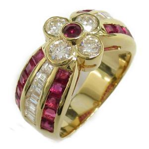 ジュエリー ルビーダイヤモンド リング 指輪 K18YG(750) イエローゴールド x ルビー x ダイヤモンド   ランクA 12号|brandoff
