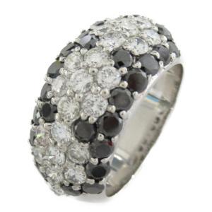 ジュエリー ブラックダイヤモンド リング 指輪 BKD1.67/ダイヤモンド1.22ct x K18WG(ホワイトゴールド)  ランクA 11号|brandoff